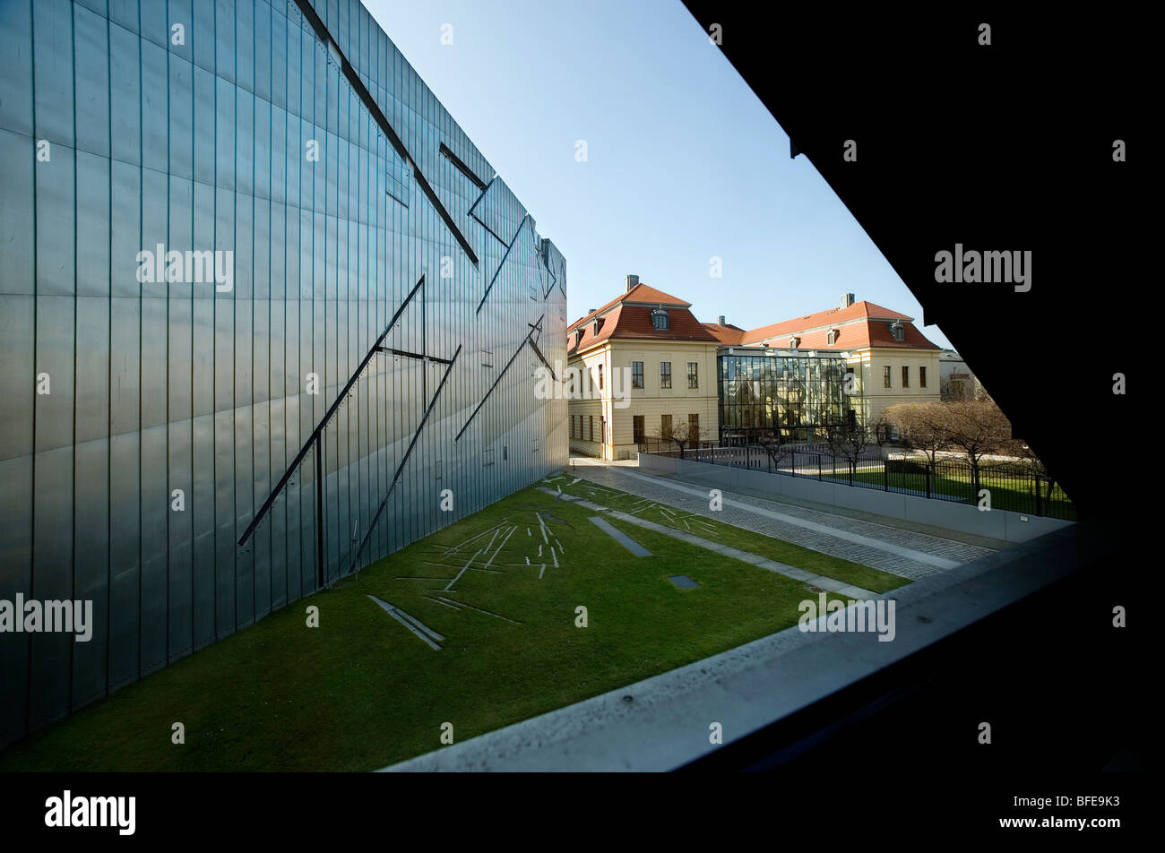 Berlin 2009,Jewish Museum,1989 DDR Germany Unified positive forward history War Cold War end East West Divide city - Stock Image