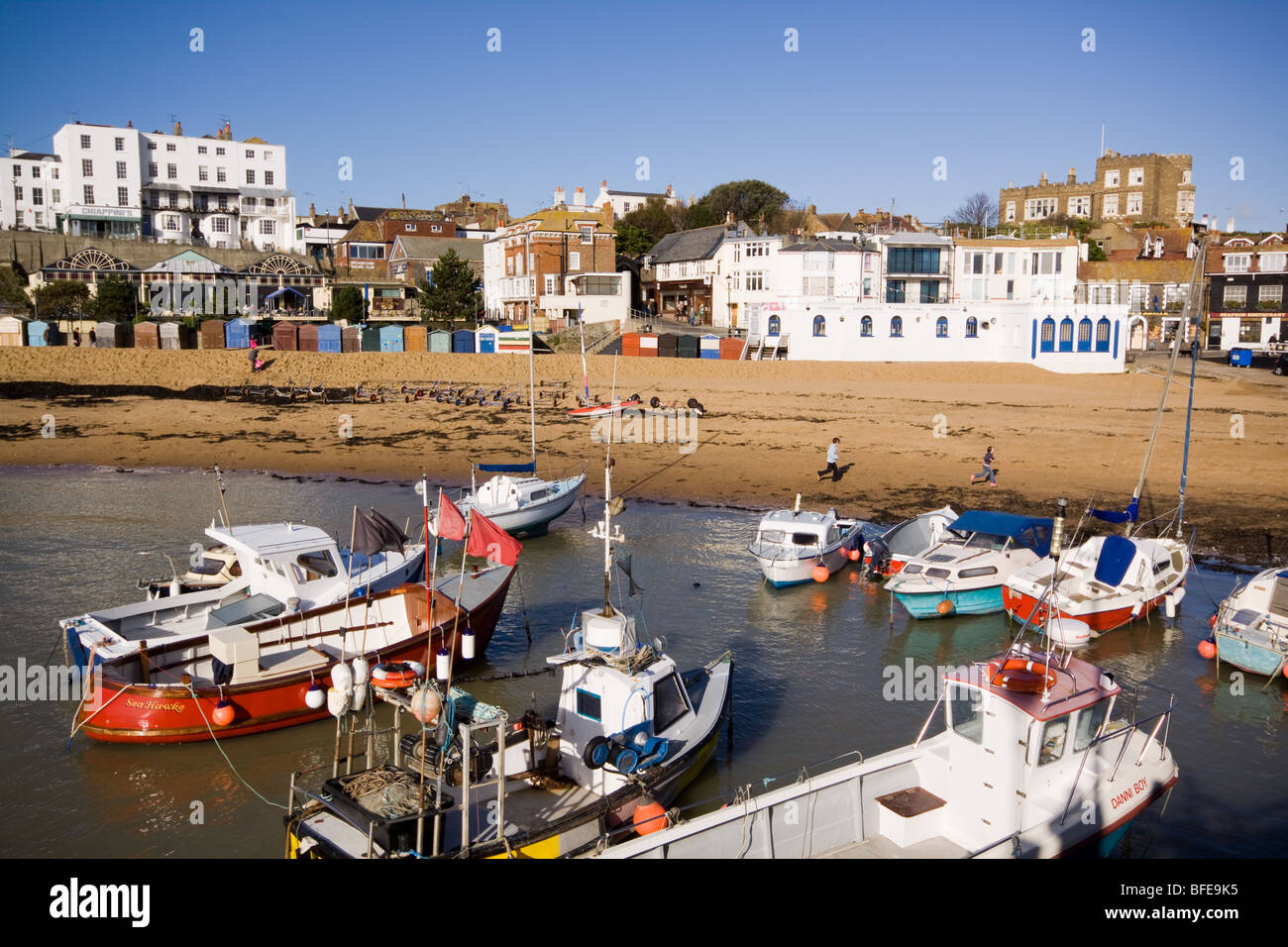 Harbour at Broadstairs - Stock Image