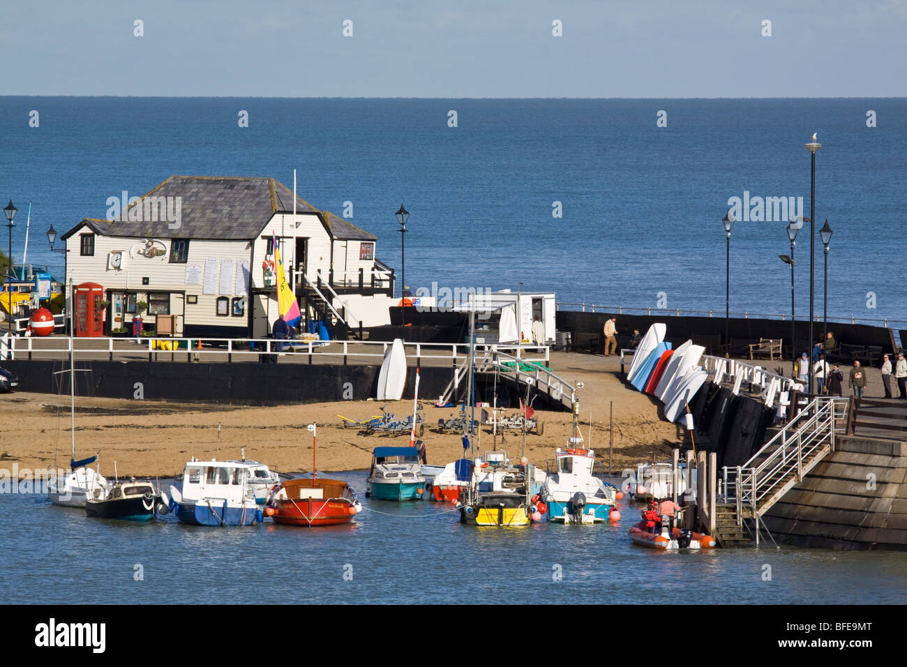 Harbour at Broadstairs Kent - Stock Image