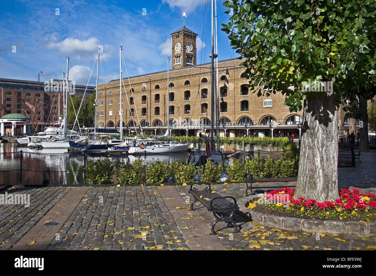 London ; St Katharine's Dock ; October 2OO9 - Stock Image