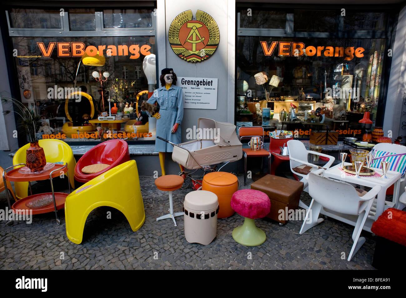 Berlin,DDR,2009,Flea Market,GDR,second hand, - Stock Image