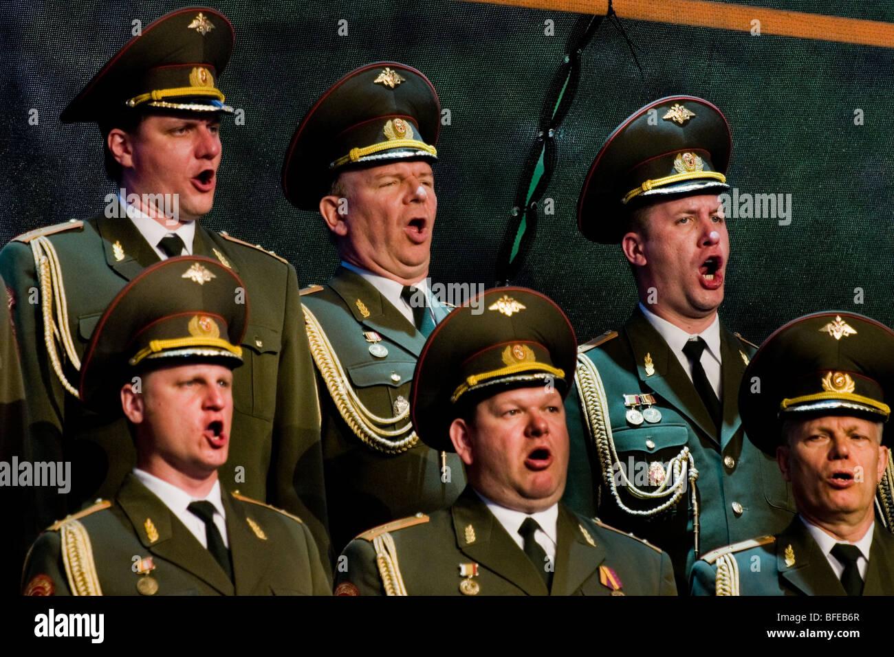 Alexandrov Ensemble, the Russian Red Army Choir performs