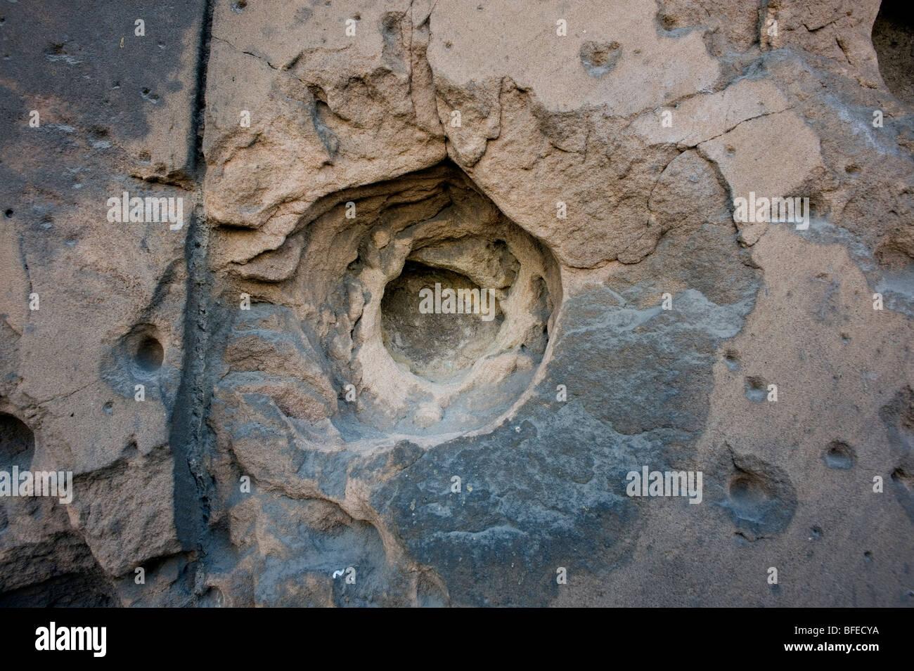 Berlin,Museum Island,bullet holes,DDR,2009 - Stock Image