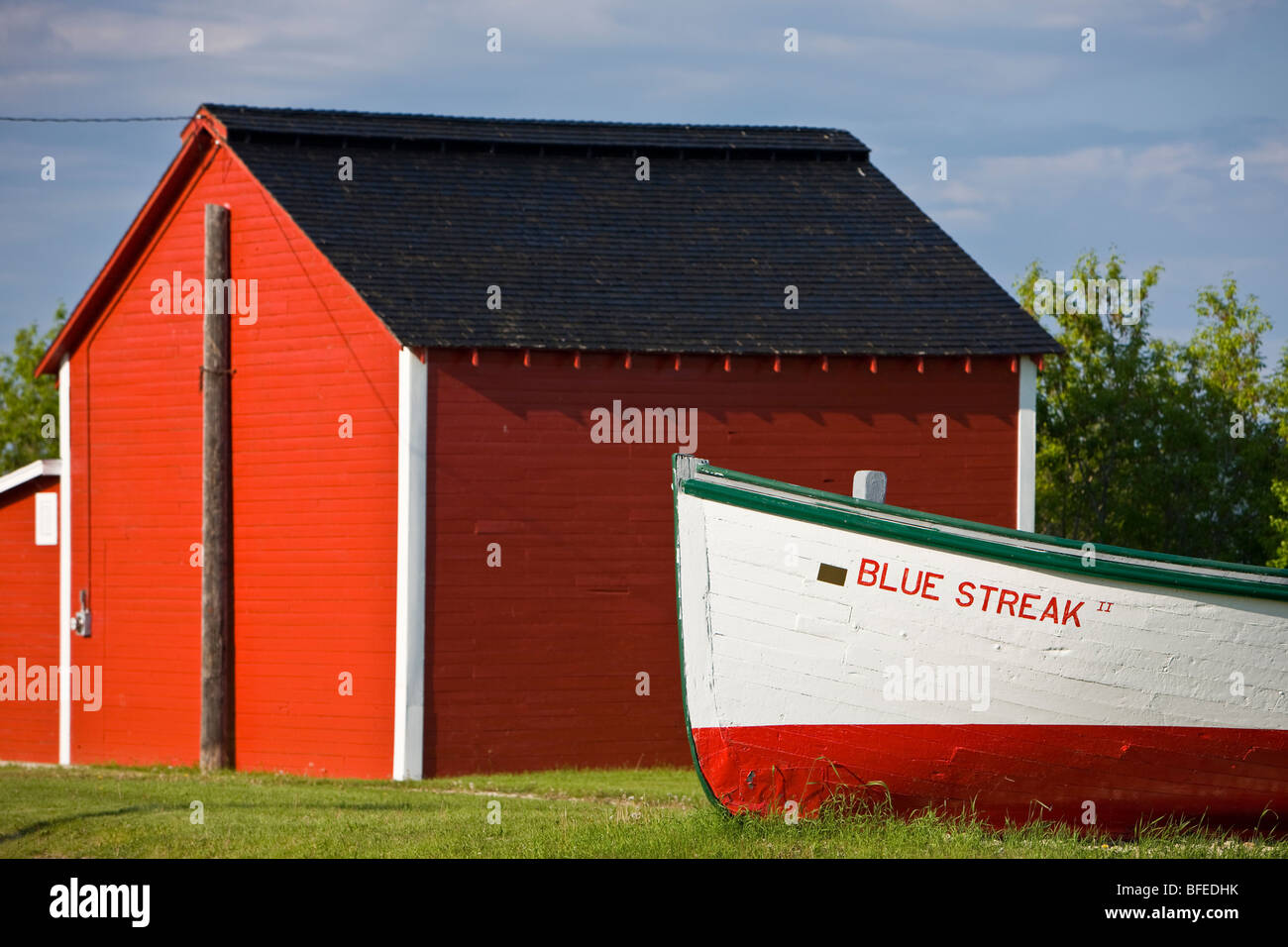 Red Boat Shed Stock Photos & Red Boat Shed Stock Images - Alamy