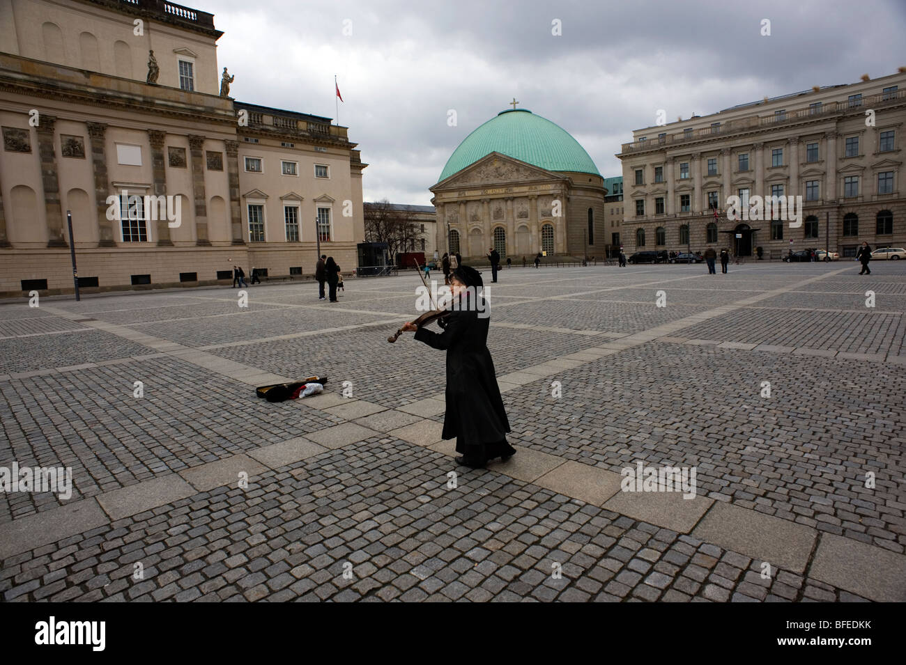 Berlin,2009,DDR Berlin wall,St.Hedwigs Cathedral. - Stock Image