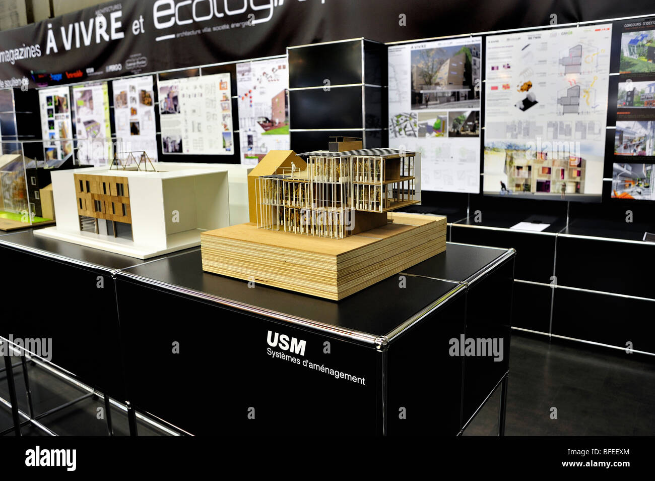 Architectural model projects display stock photos - Salon eco construction ...