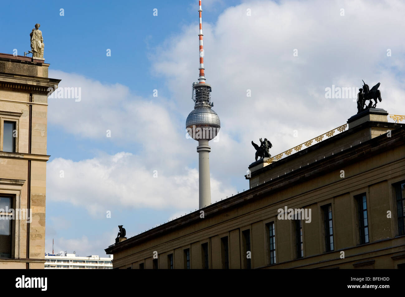 Berlin,TV Tower, DDR, - Stock Image