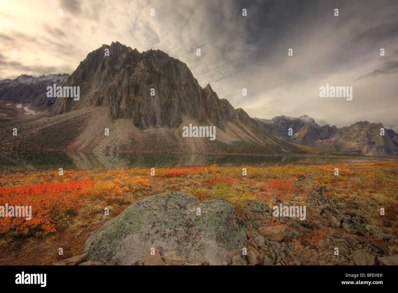 Talus Lake, Tombstone Territorial Park, Yukon, Canada - Stock Image