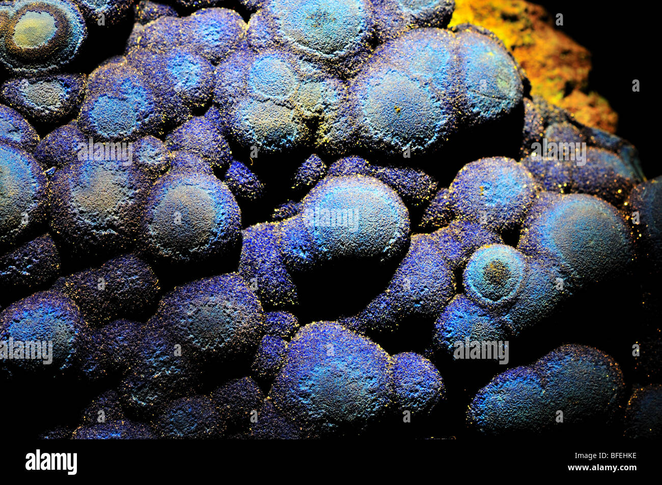 Azurite, copper carbonate. - Stock Image