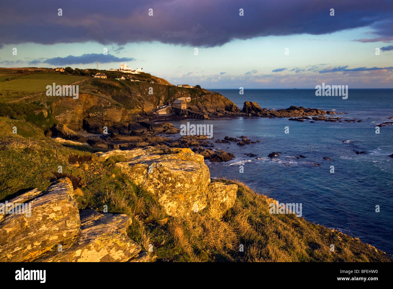 Lizard point; most southerly point in UK; Cornwall; sunset - Stock Image