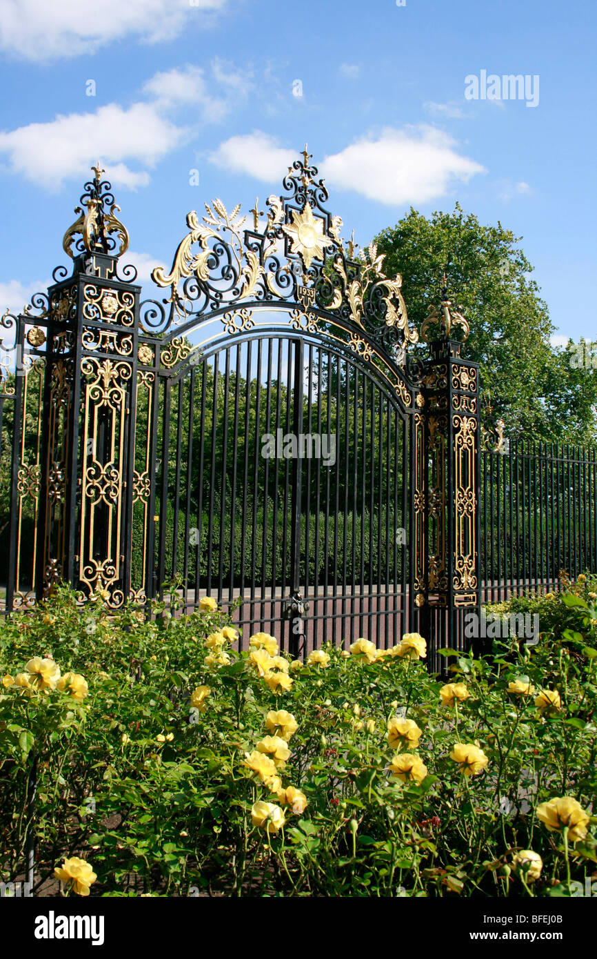 Queen Mary's Garden  in the inner circle of Regent's Park, London - Stock Image