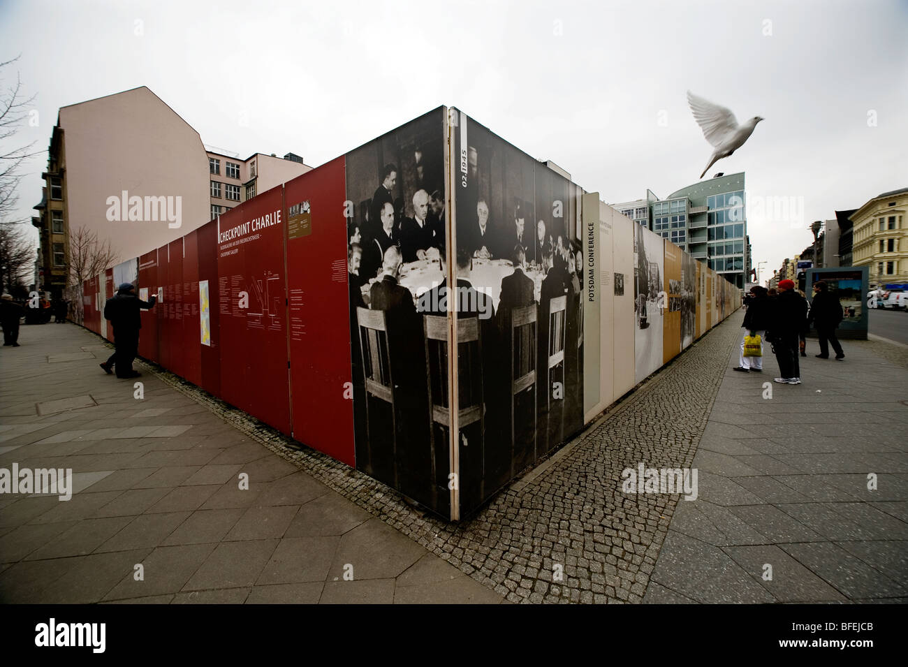 Berlin 1990 DDR Check Point Charlie Berlin wall - Stock Image