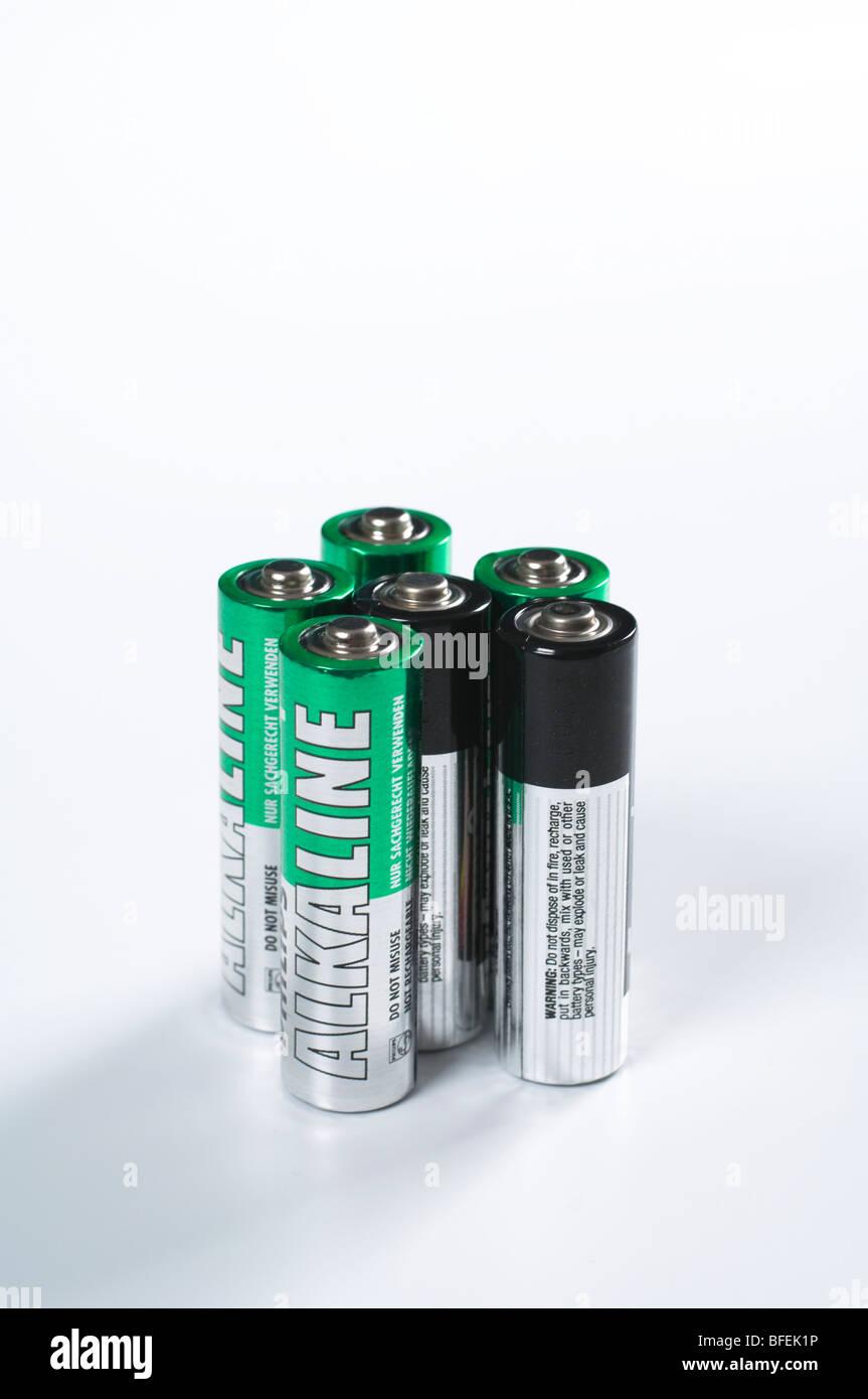 AA batteries - Stock Image