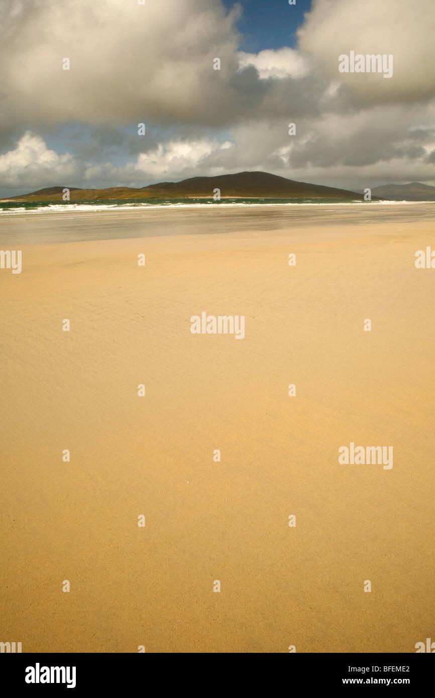 Seilebost and Luskentyre beach,Isle of Harris,Outer Hebrides,Western isles,highlands of Scotland,UK. - Stock Image