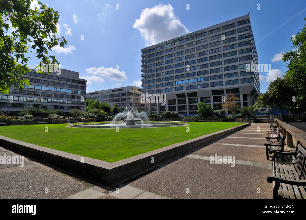 St Thomas' Hospital, Westminster Bridge Road, London, SE1 7EH, United Kingdom - Stock Image