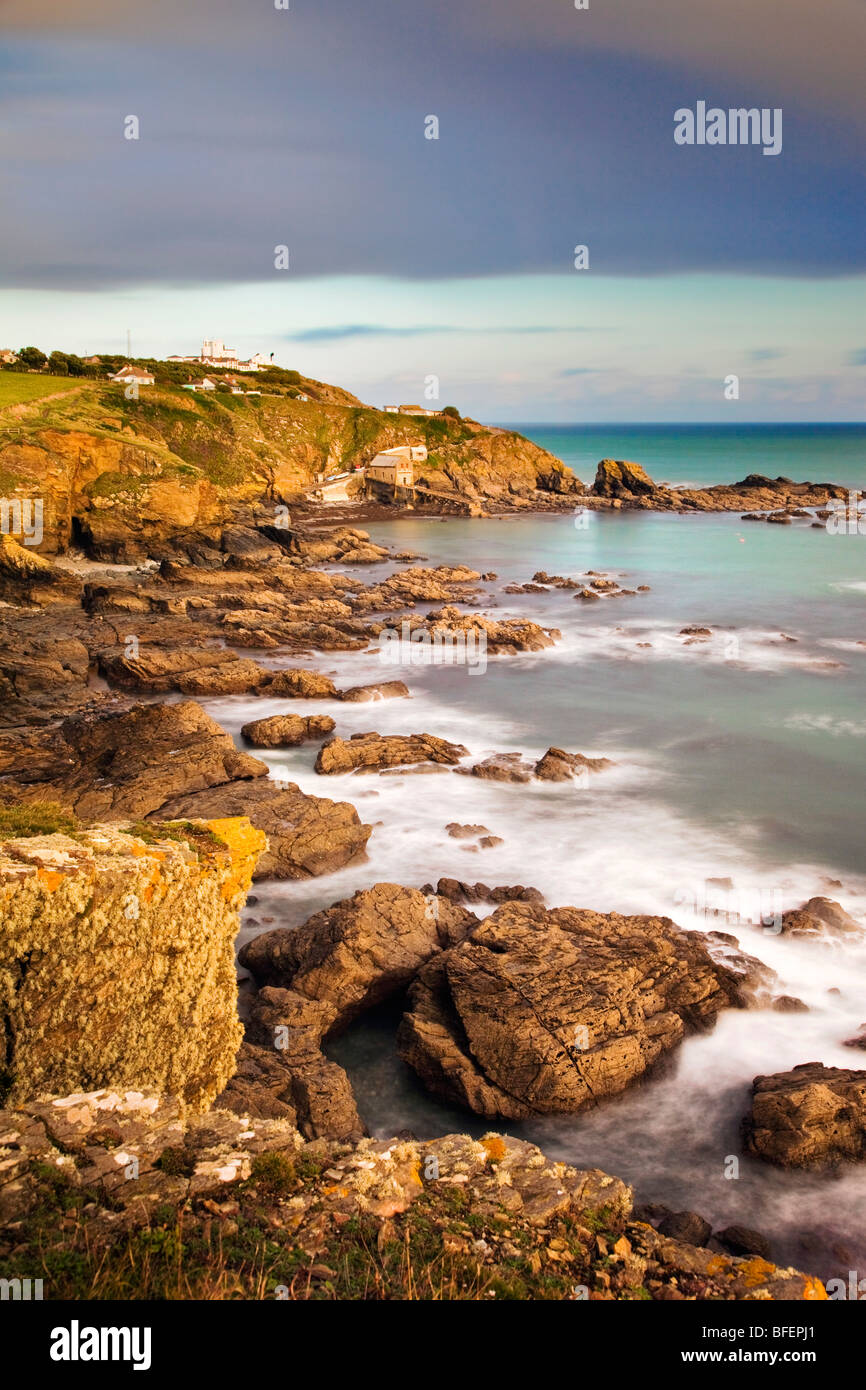 Lizard point; most southerly point in UK; Cornwall; - Stock Image