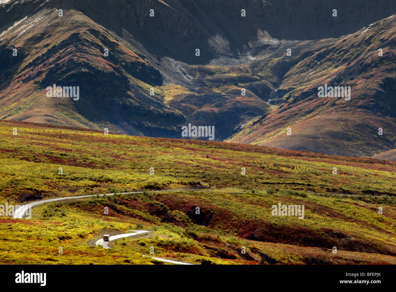 Dempster Highway, Tombstone Territorial Park, Yukon Territory, Canada - Stock Image