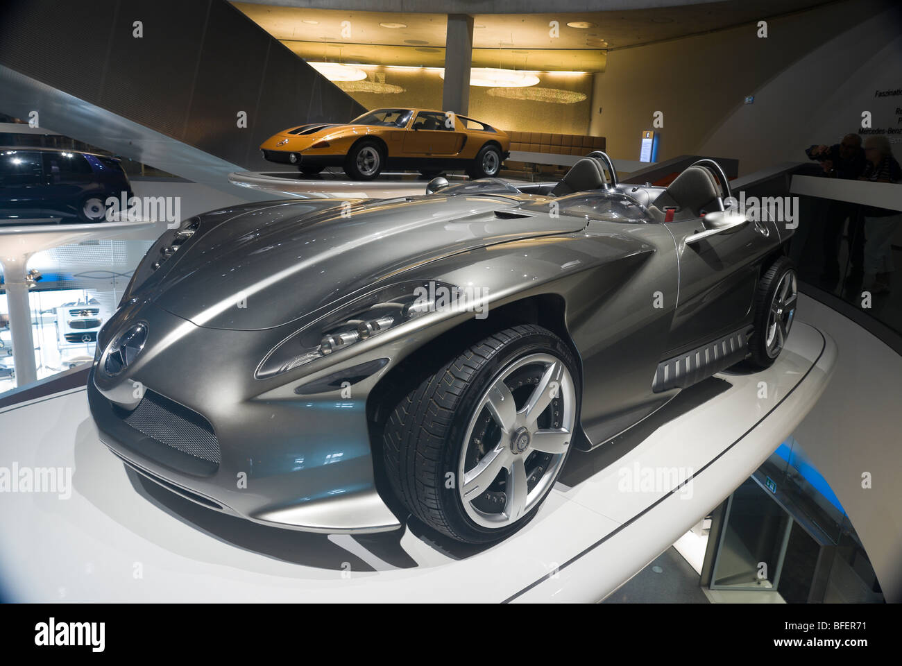 Mercedes F400 concept car, in the Mercedes Benz museum. Stuttgart, Germany. - Stock Image