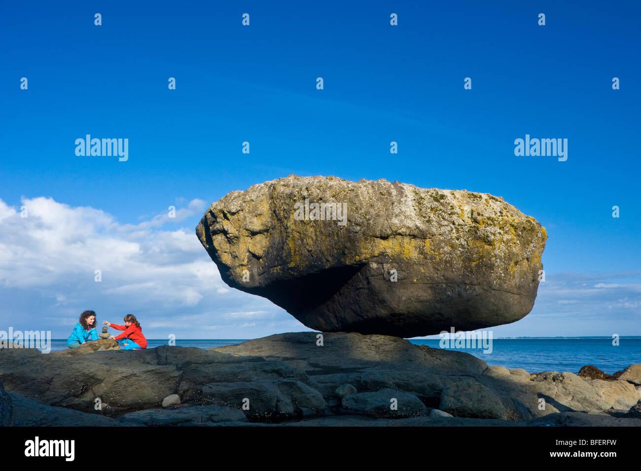 Balance Rock, Graham Island, Queen Charlotte Islands, British Columbia, Canada - Stock Image