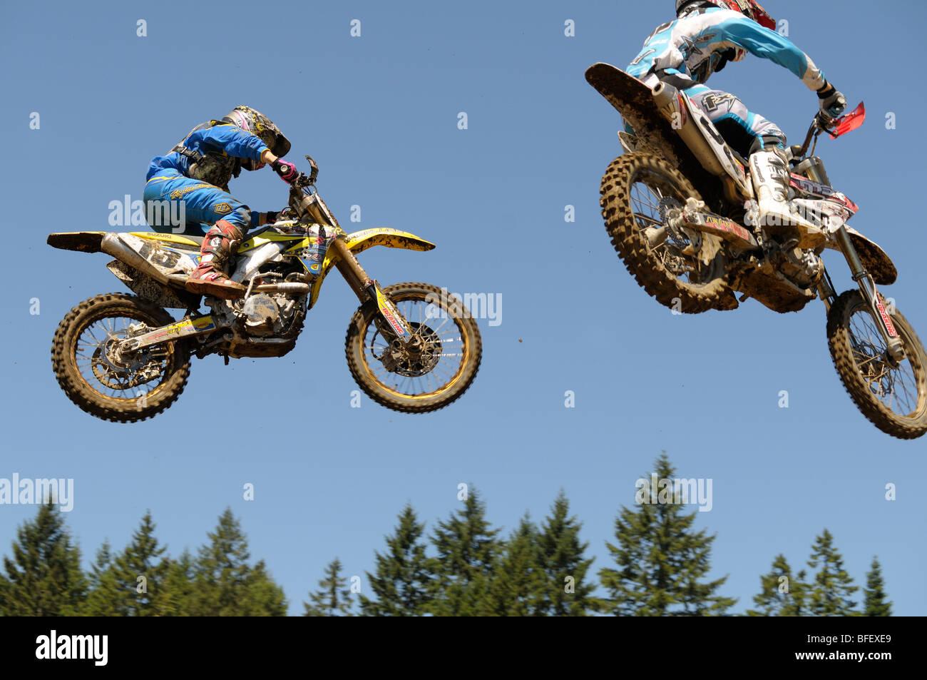 Tyler Medaglia - Monster Energy Motocross Nationals - MX1 Pro Moto 1 - Nanaimo Wastelands, July 13, 2008. - Stock Image