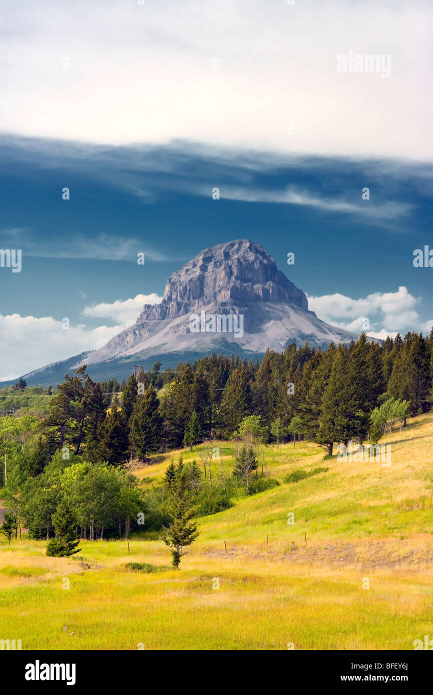 Crowsnest Mountain, Alberta, Canada, rockies - Stock Image