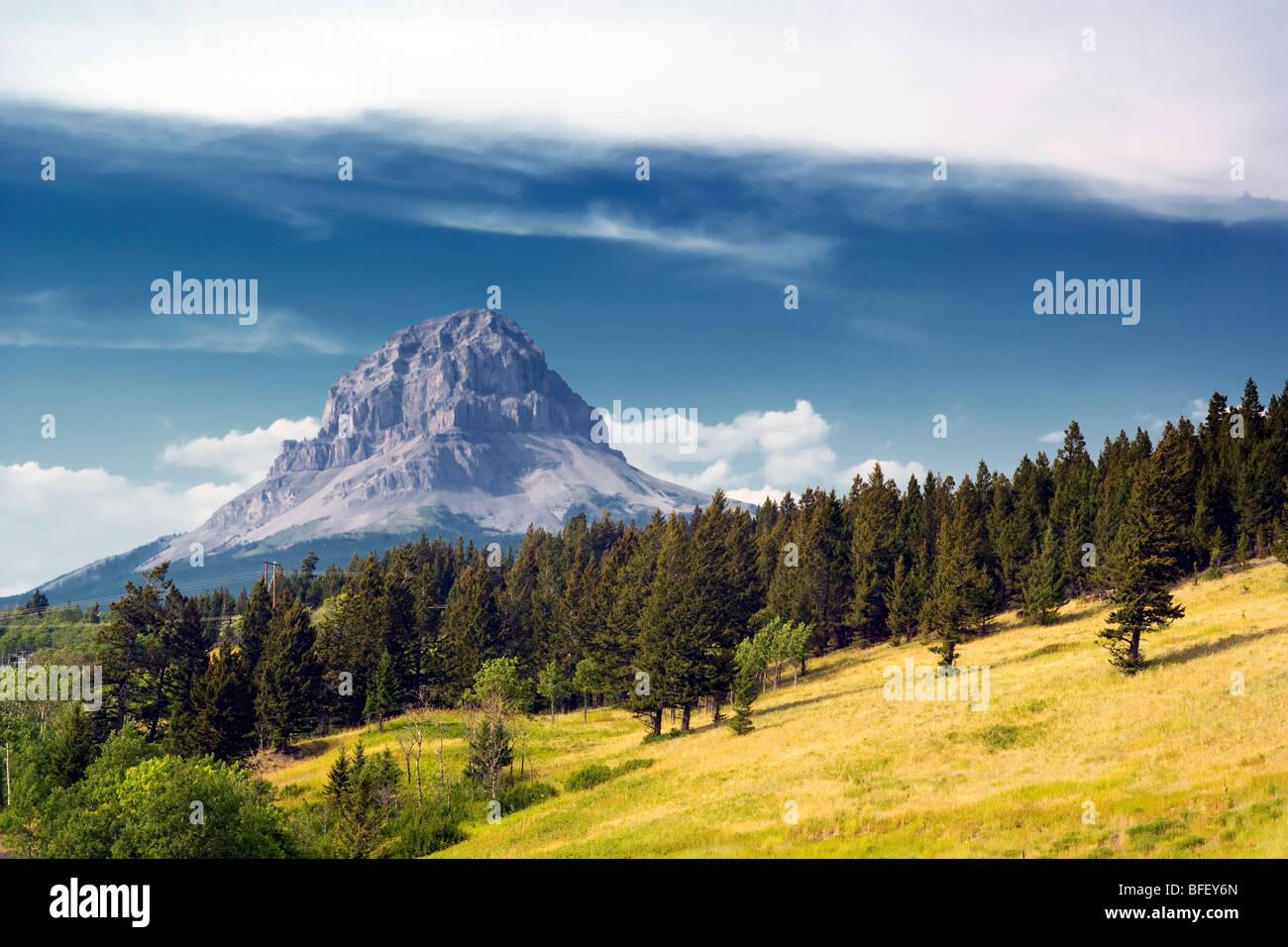 Crowsnest Mountain, Alberta, Canada, rockies, - Stock Image