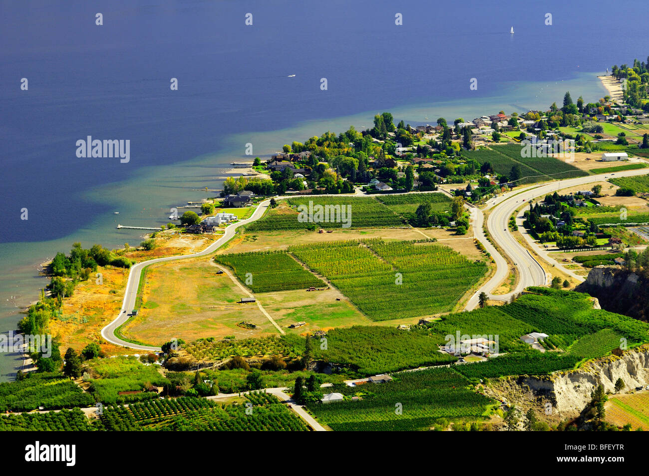 Views of Summerland from Giant's Head Park. - Stock Image