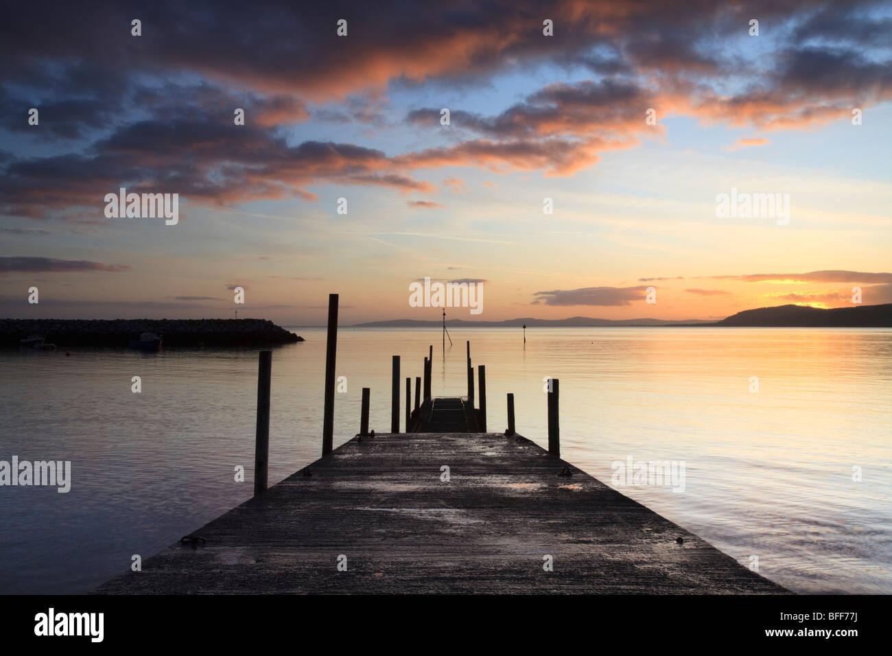 sunrise over Rhos on Sea, Llandrillo, Conwy, Wales, UK Stock Photo