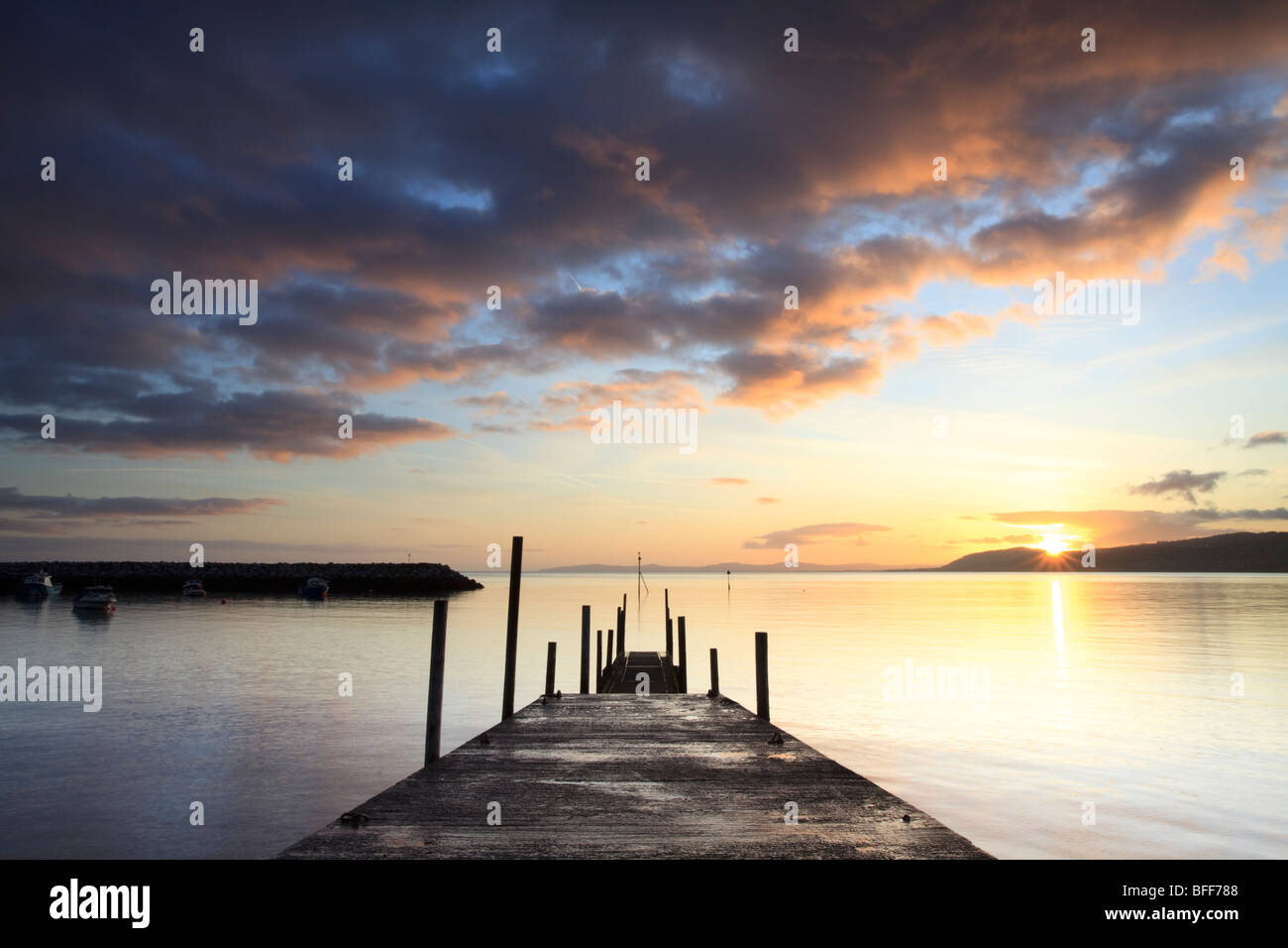 sunrise over Rhos on Sea, Llandrillo, Conwy, Wales, UK - Stock Image