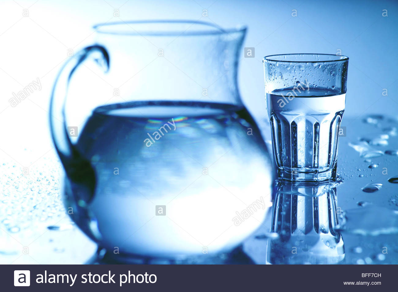 sauberes Wasser im Glas - Glass of clean Water Stock Photo