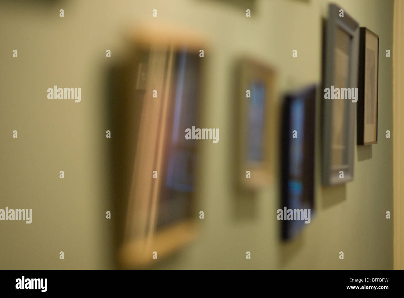 photo frames on a wall - Stock Image