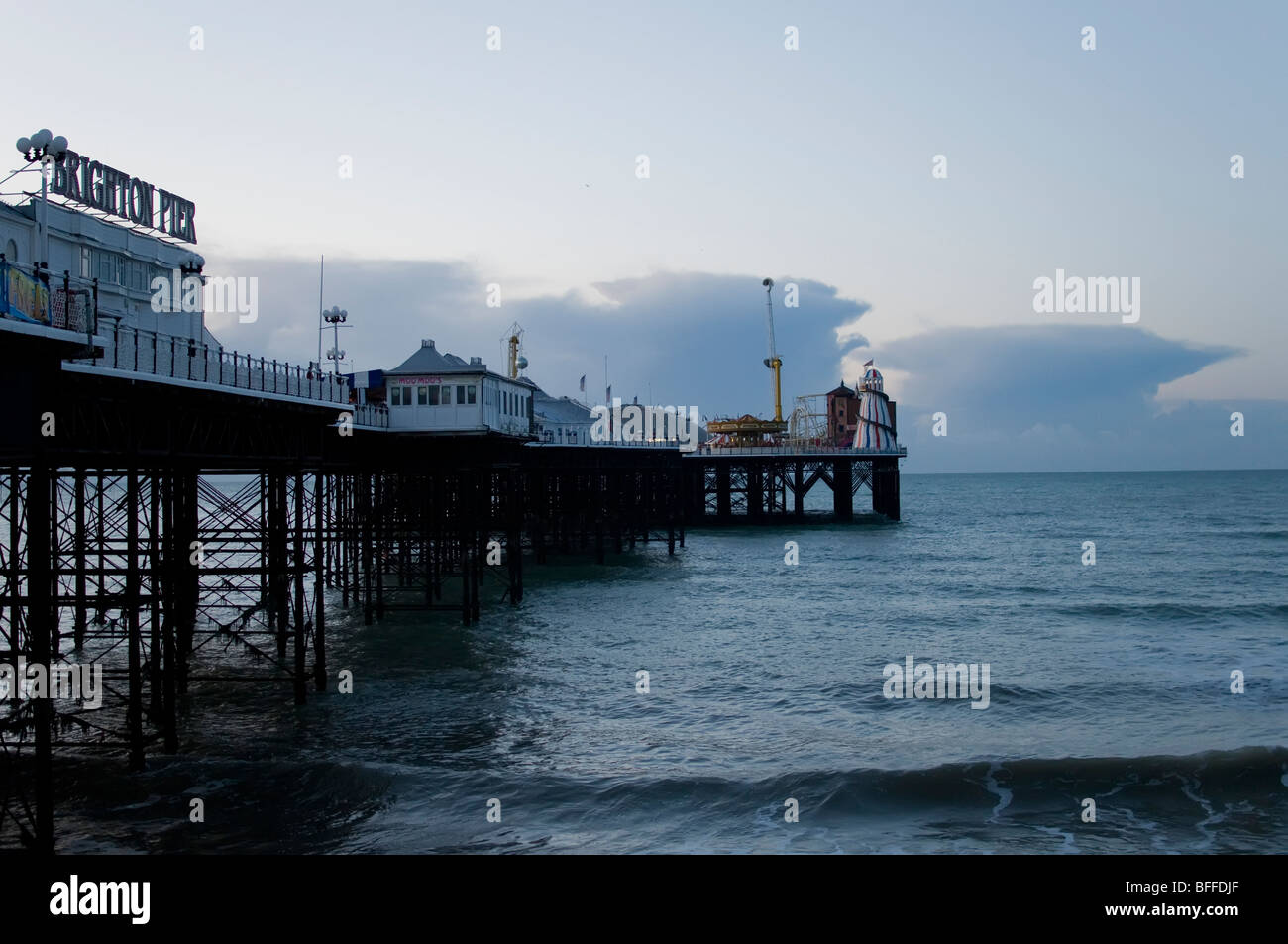 Cumulonimbus clouds over the English Channel - Stock Image