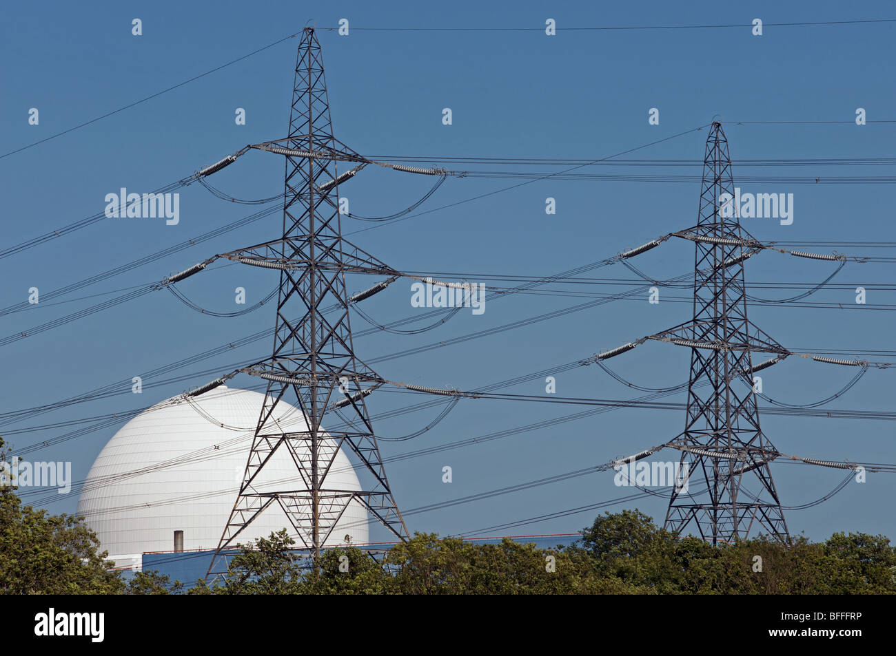 Sizewell B nuclear power station - Stock Image
