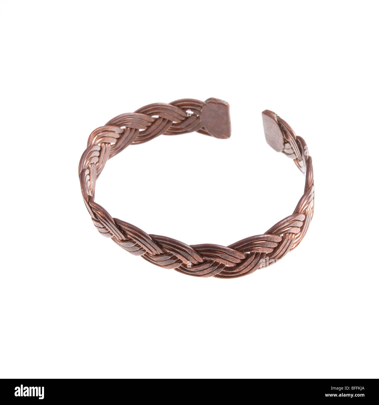 Made Copper Stock Photos Images Alamy Circuit Board Cuff Bracelet Hand From Twisted And Hammered Wire Isolated Against White Background