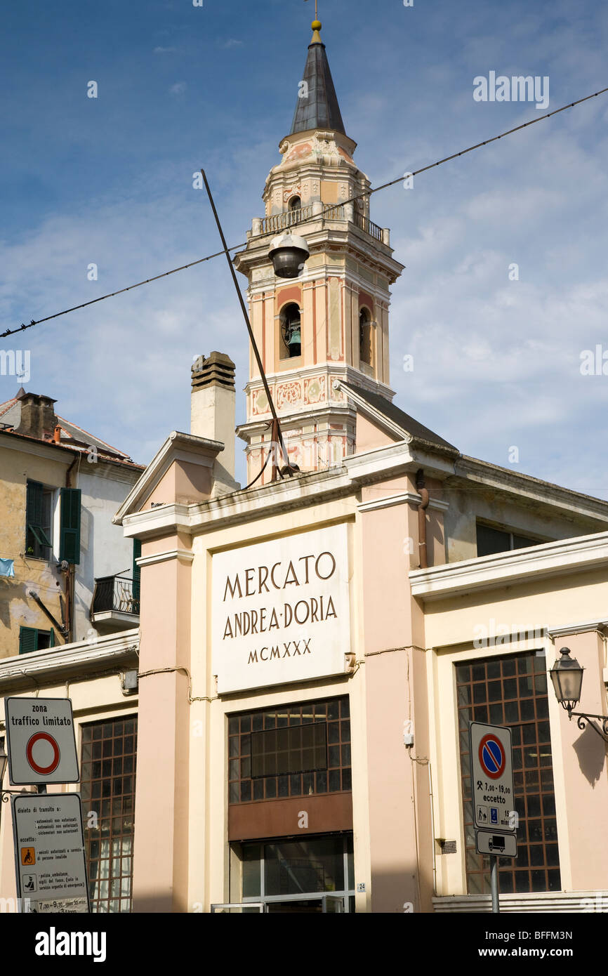 Market building (mercato), Imperia, liguria, Italy - Stock Image
