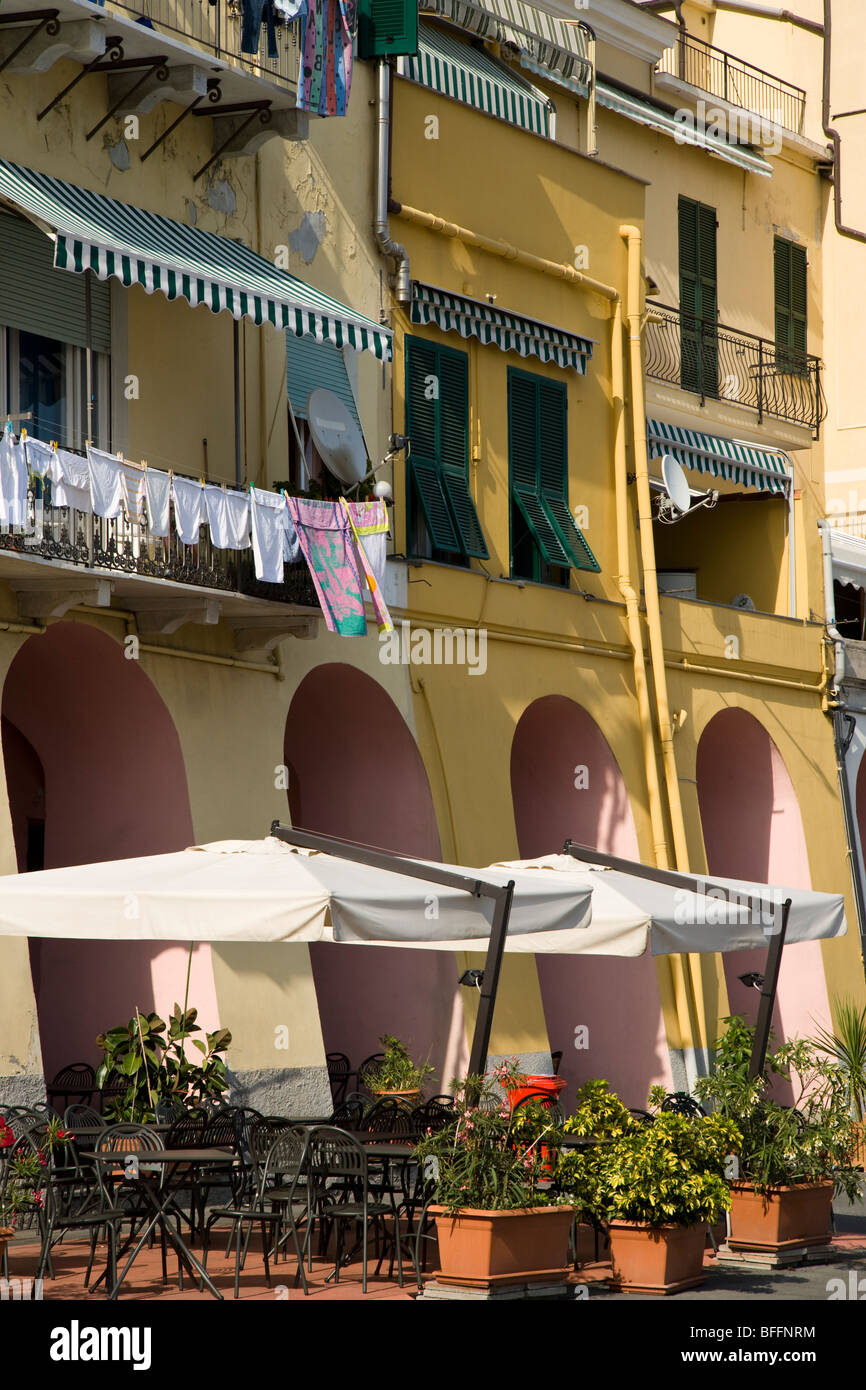 Buildings on the harbourfront, Imperia, liguria, Italy - Stock Image