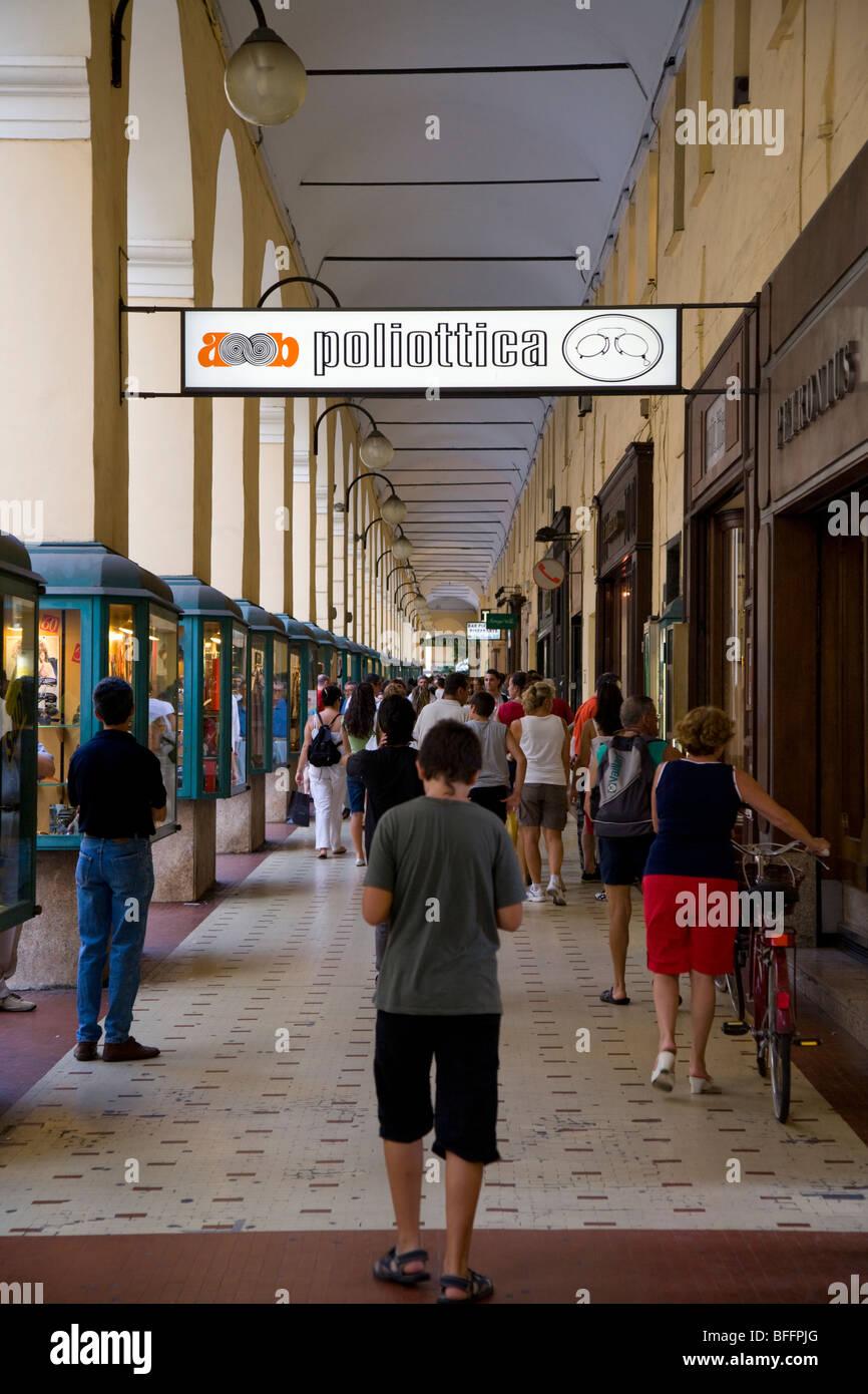 Shopping arcade Imperia, liguria, Italy - Stock Image