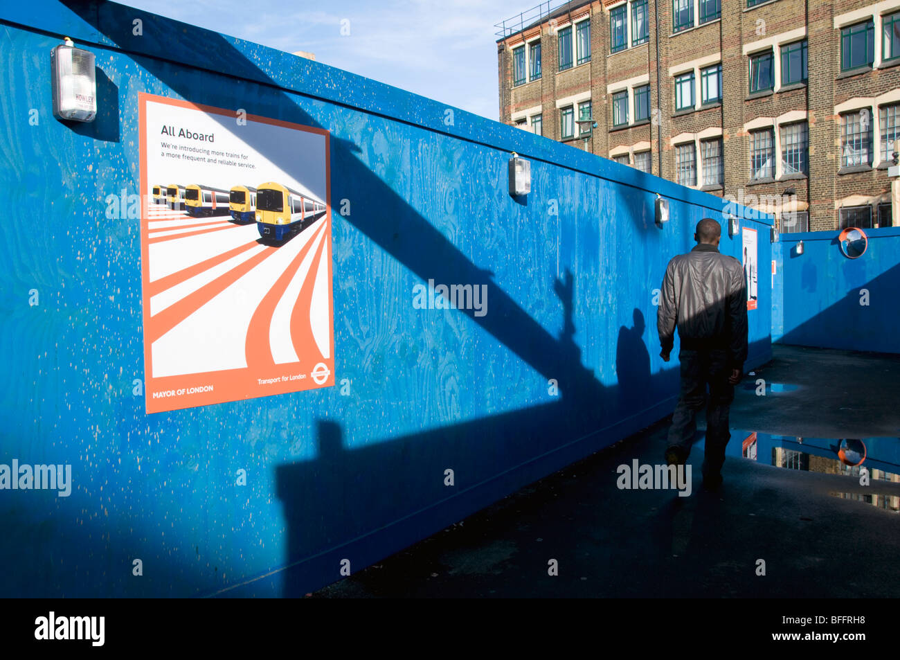 UK.Dalston Kingsland extension of Tube and rail line for 2012 Olympic - Stock Image