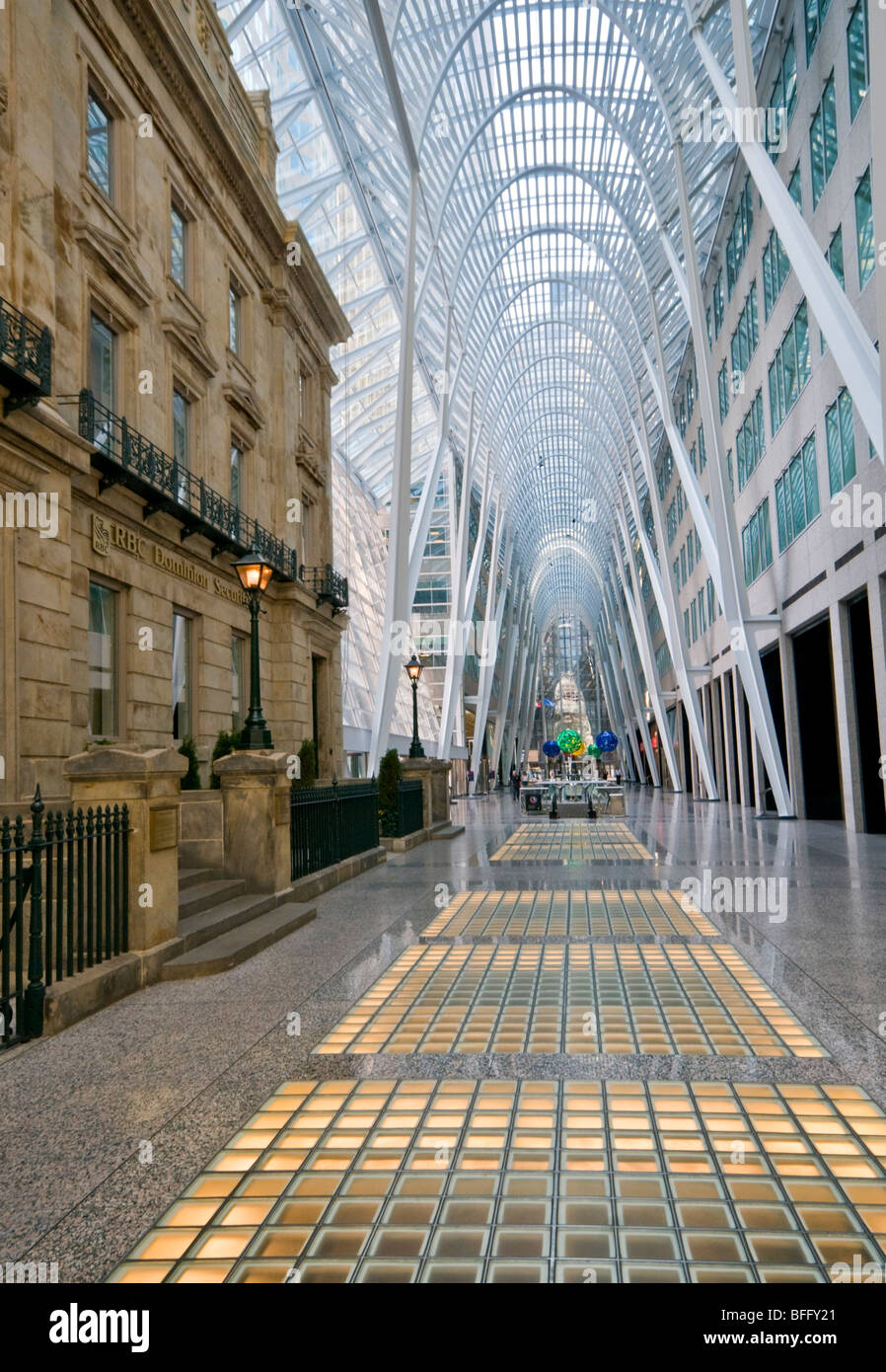 The Allen Lambert Galleria & Merchants Bank Building, Brookfield Place Building, BCE, Toronto, Canada, Ontario, - Stock Image