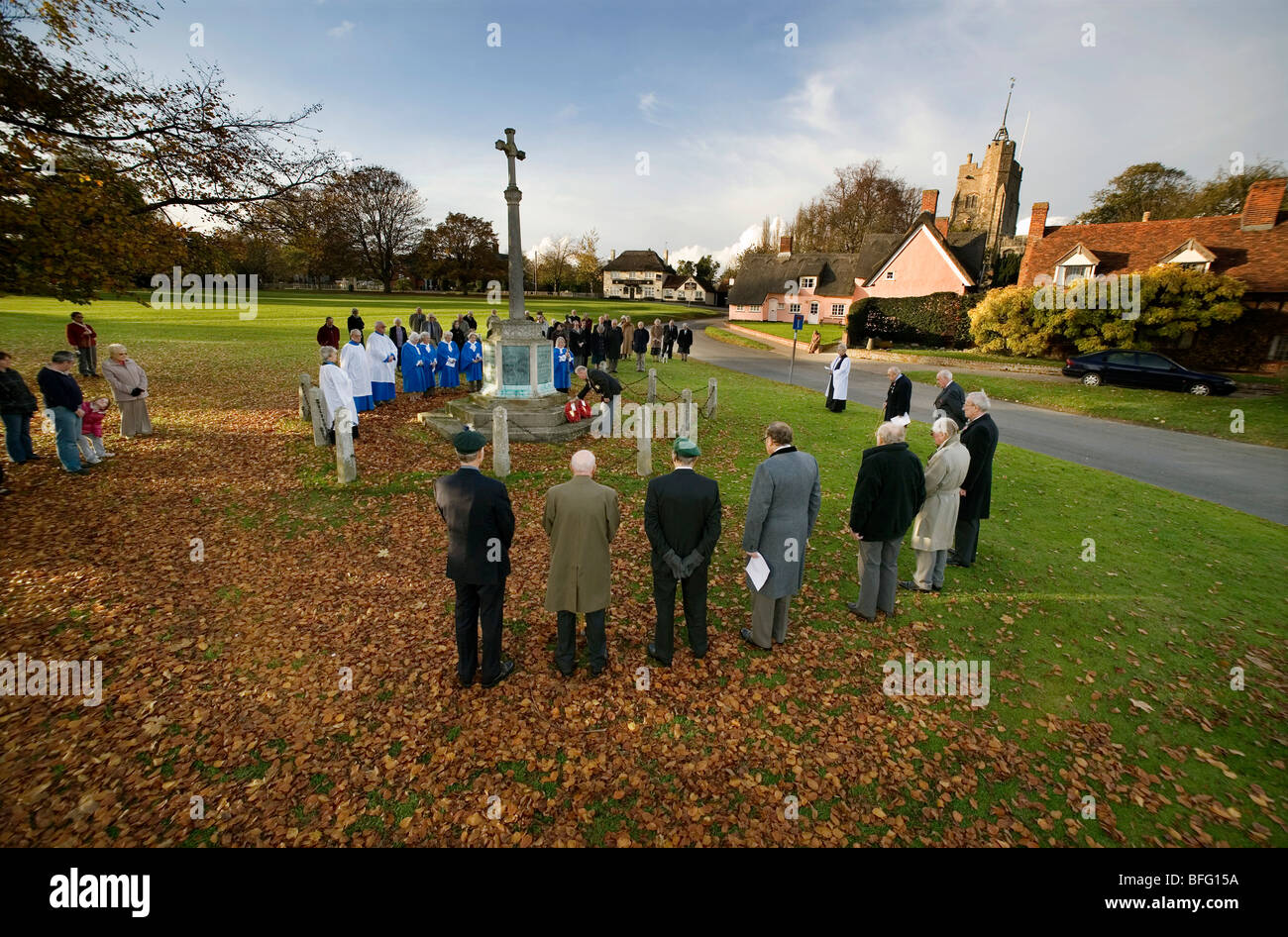Remembrance Day, Cavendish, Suffolk, Britain. - Stock Image