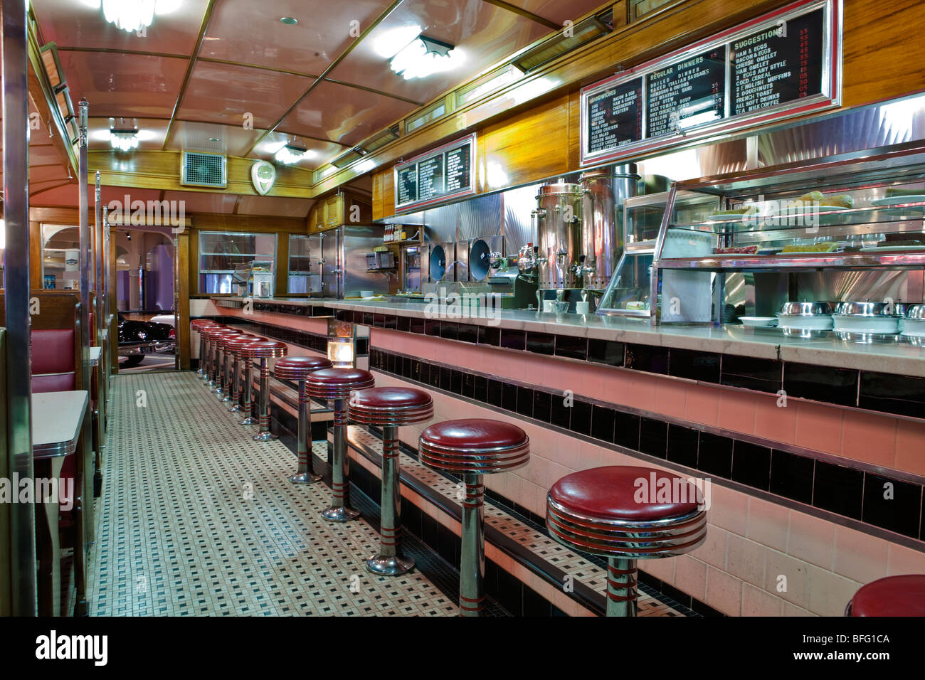 Fifties Era Diner. - Stock Image