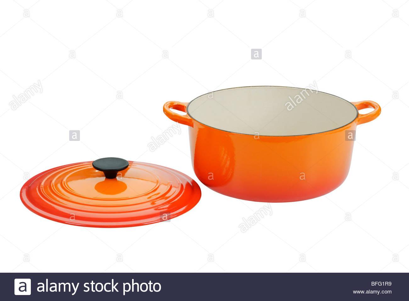 Cast iron cooking pot - Stock Image