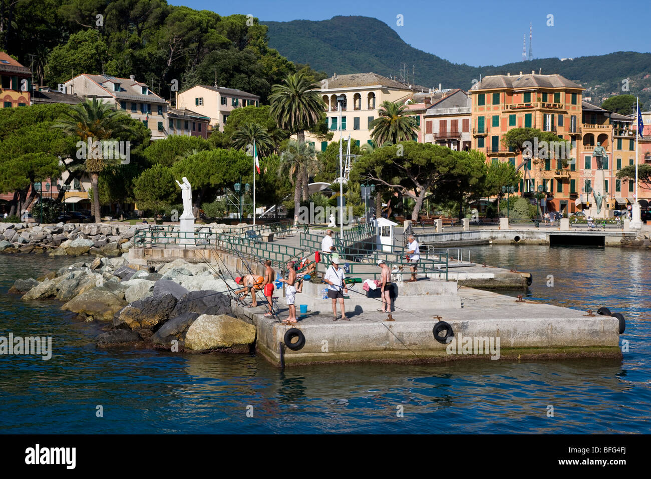 Water front of Santa margherita ligure, Italy Stock Photo
