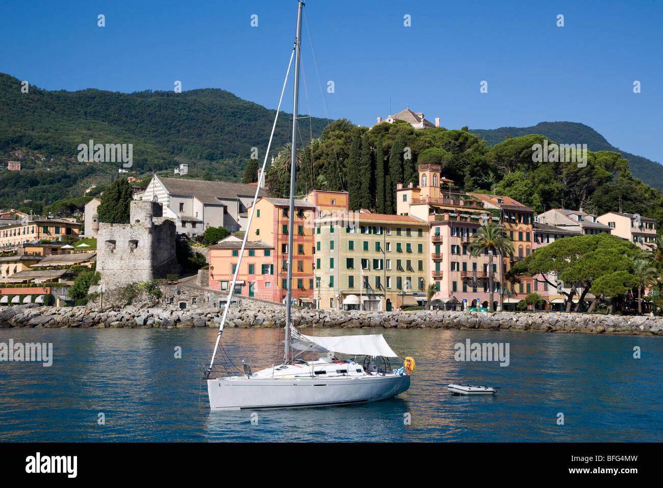 Water front of Santa margherita ligure, Italy Stock Photo