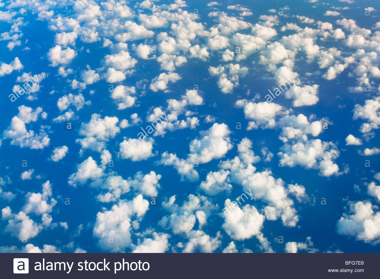 Clouds over ocean, South Pacific Ocean - Stock Image