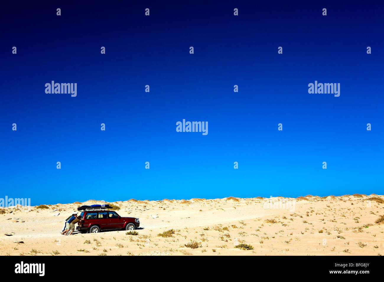 Mauritania, Ras Nouadhibou Peninsula, Sahara Desert. - Stock Image