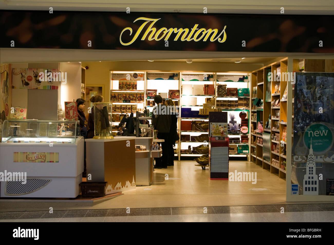 Thorntons chocolate shop Aylesbury Buckinghamshire - Stock Image
