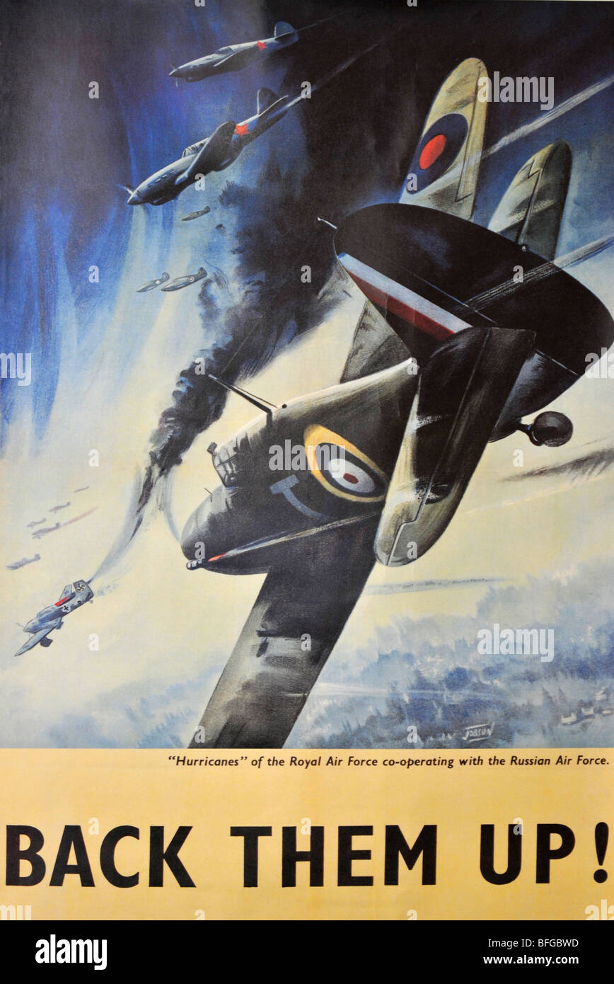 World War 2 RAF fighter poster - Stock Image