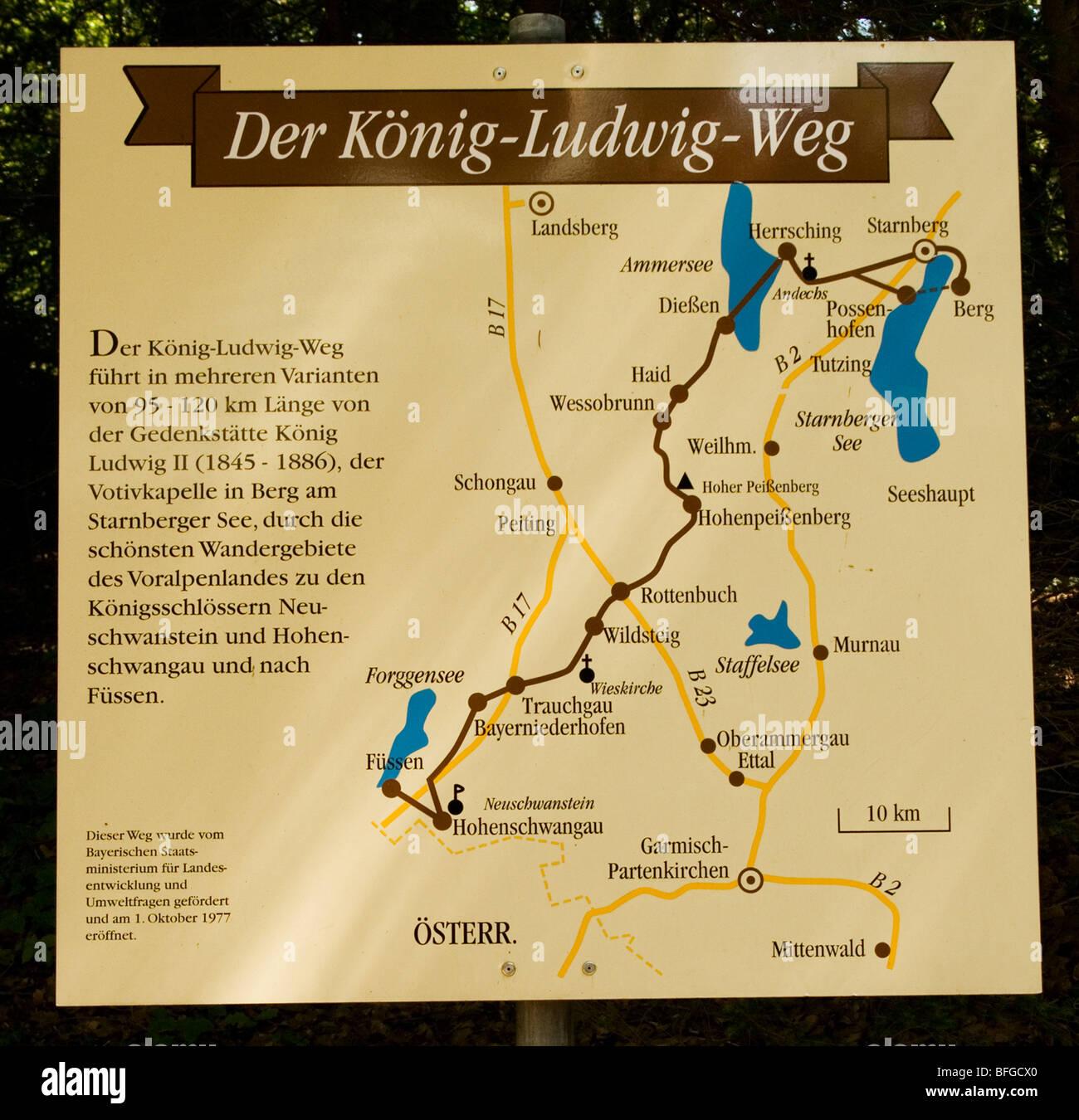 Bavaria Germany Along The King Ludwig Way Or Koenig Ludwig The