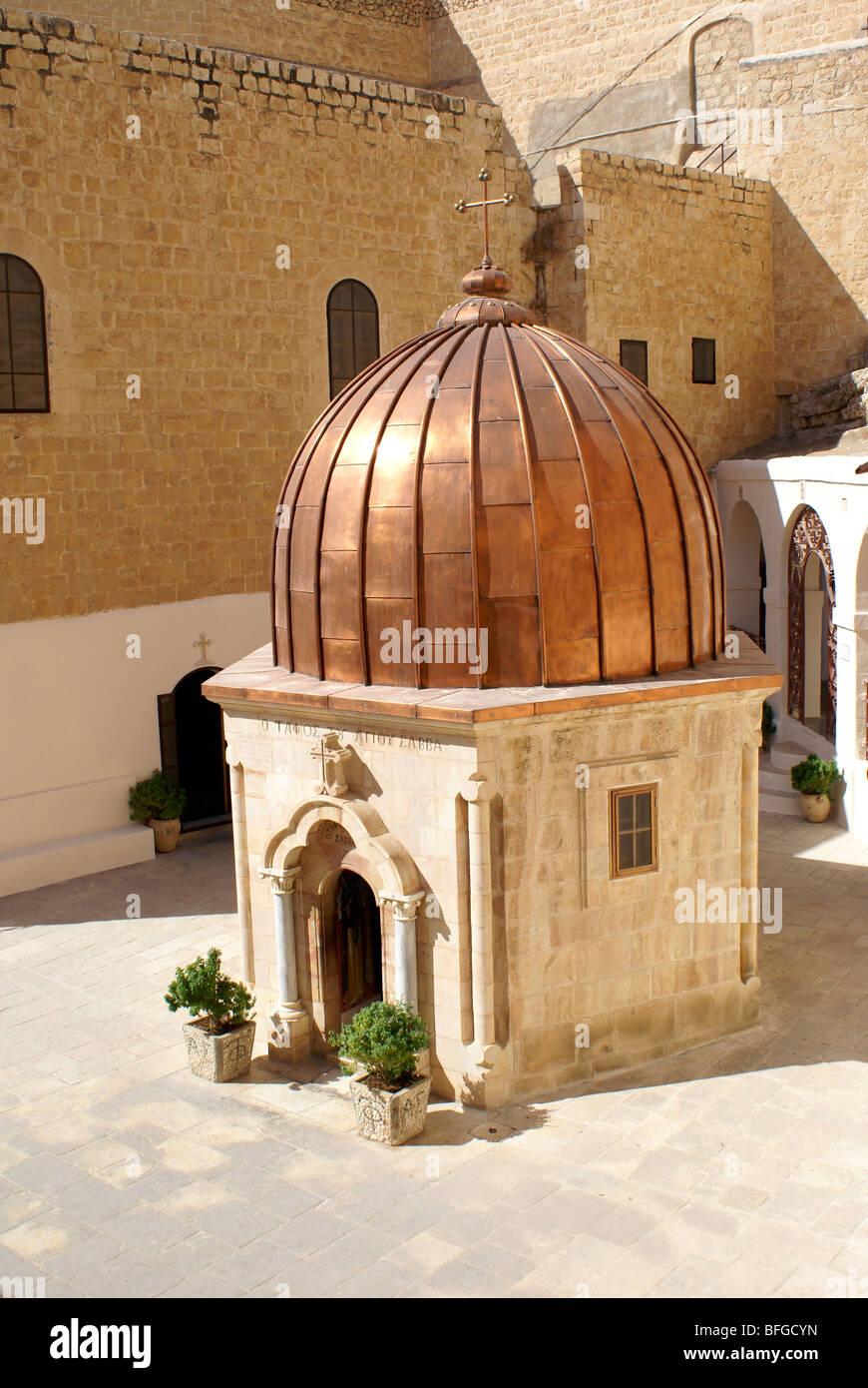 Greek Orthodox Monastery of Mar Saba (St. Sabas) in Judean Desert, Israel - Stock Image